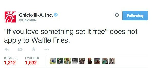 twitter witty banter chick fil-a wendys reactions insults burger king funny fast food win