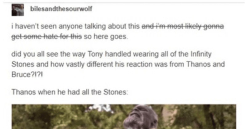 An enlightening Tumblr post describes why Tony Stark's the most formidable avenger.