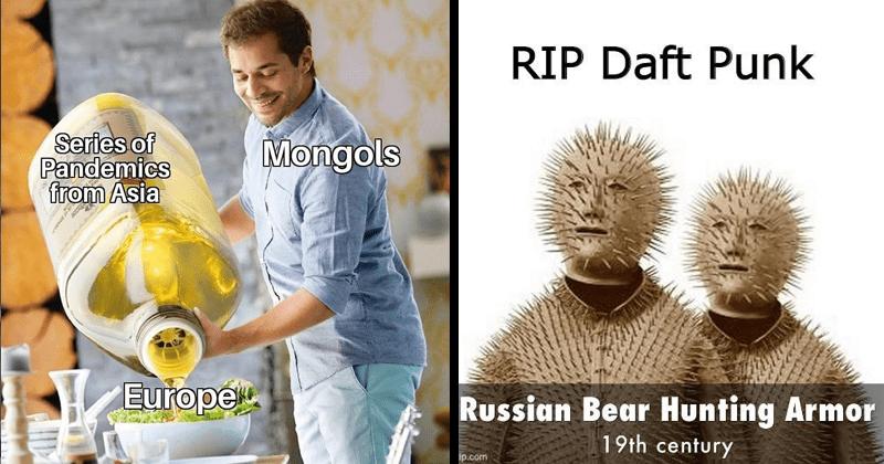 Funny history memes, lol, dank memes, dark humor, historical