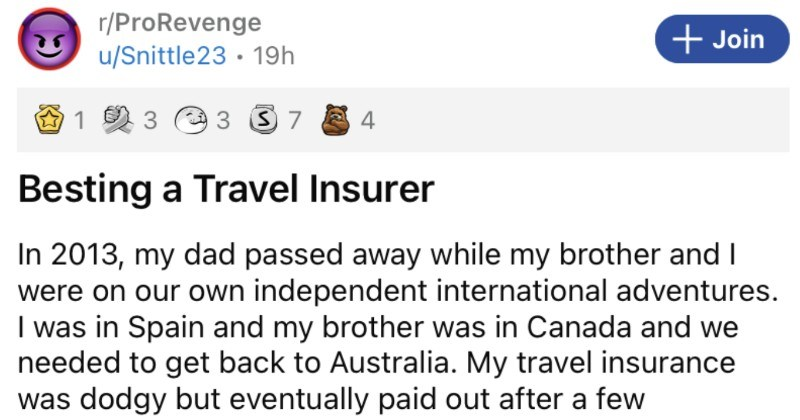 Guy ends up besting a dodgy travel insurer to the tune of over $9K.
