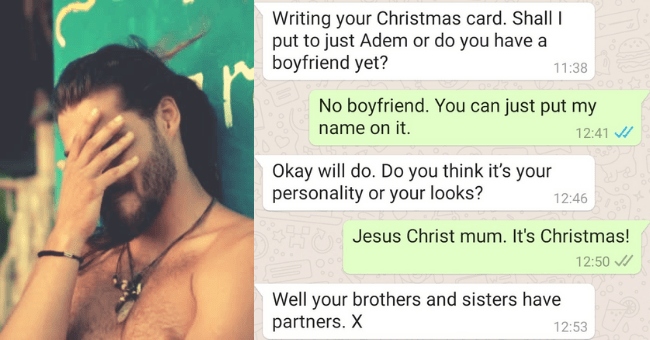 Guy Tweets Relatable Conversation Showing Rude Comments From Mom| Thumbnail text -