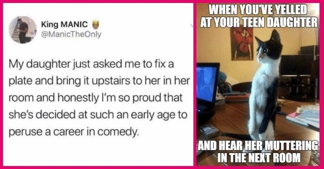 funny memes about daughters being dramatic and full of sass | thumbnail text -