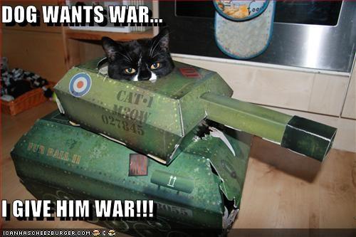 dogs lolcats murder tank war - 1372461312