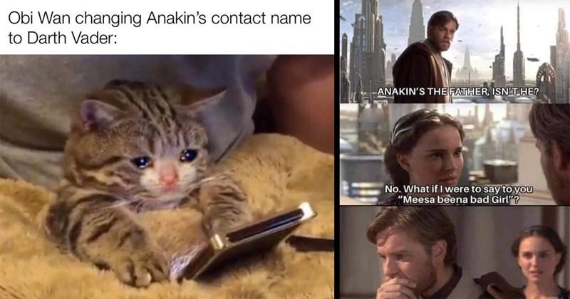 obi wan, star wars, star wars memes, prequel memes, funny memes, nerdy memes, the mandalorian, anakin skywalker, luke skywalker, memes, dank memes, lol, funny, fandom, the clone wars