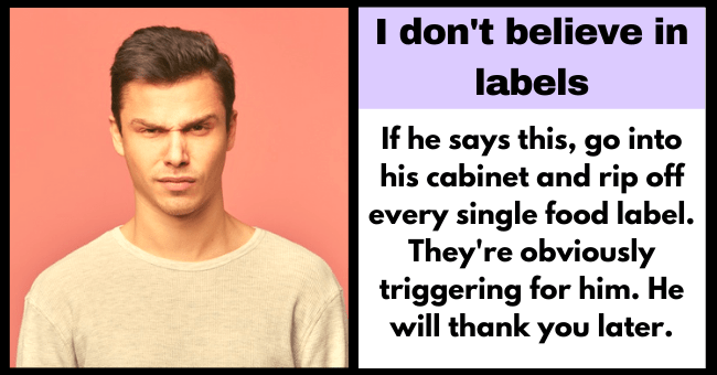 Ten Lamest Excuses Guys Give To Avoid Commitment| Thumbnail text - 99 I I don't believe in labels. 66
