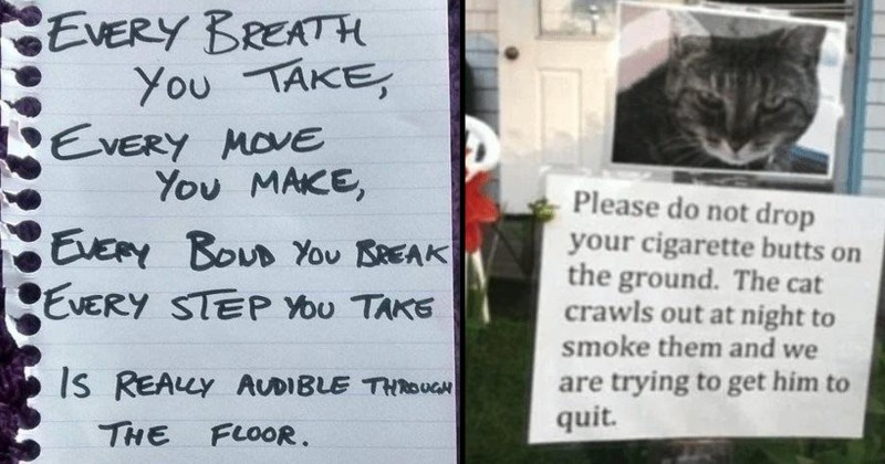 Passive aggressive notes between neighbors