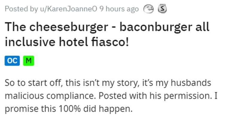 man combines burgers against wishes of burger guy, enraging him