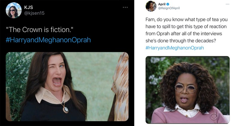 oprah, royals, meghan markle, prince harry, the crown, royal family, twitter, twitter memes, trending tweets, oprah winfrey, prince charles, kate middleton, spicy tweets, twitter reactions