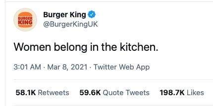how twitter responded to burger king's sexist joke