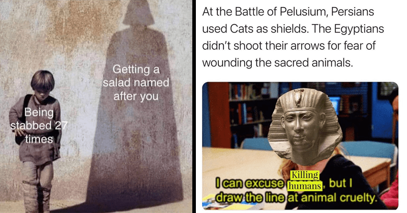 Funny random and dank history memes, european history, ancient history, lol, comedy, humor, ancient history, ancient rome, ancient egypt, animals, cats, persia