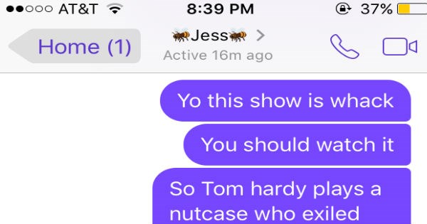plot recap,Movie,conversation,tom hardy,texting,win