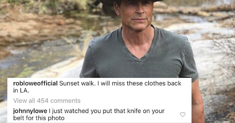 A collection of times that Rob Lowe's kids ended up trolling him in the comments section.