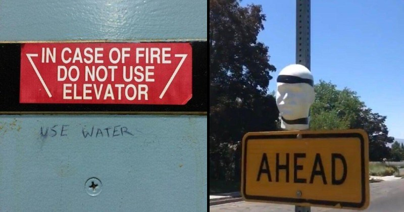funny vandalism and signs