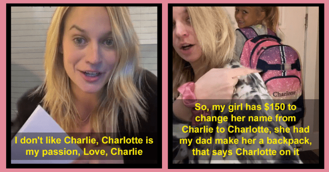 5 Year Old Raises $150 To Convince Her Parents To Change Her Name| thumnail text - Charlotte So, my girl has $150 to change her name from Dear mommy a n o aVer IliKe iTah me up onil's pr IDon'is charle I don't like Charlie, Charlotte is my passion, Love, Charlie Charlie to Charlotte, she had my dad make her a backpack, that says Charlotte on it