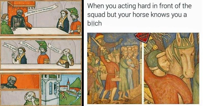 classical art memes, art memes, memes, funny memes, relatable art memes, quarantine memes, renaissance, medieval art memes, dank memes, funny, byzantine, middle ages