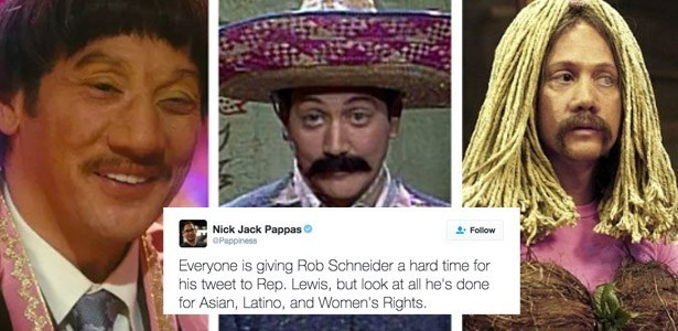 twitter,racism,civil rights,celeb,rob schneider