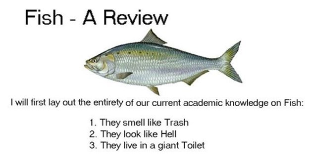 hilarious animal ratings - thumbnail is a picture and description rating of a fish