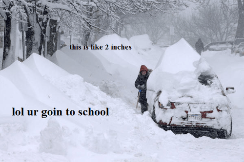 snow,going to school,north,funny,south