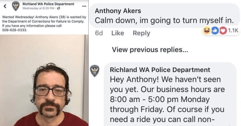 Man decides to respond to his own wanted ad on Facebook.