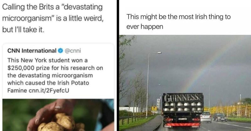 irish memes, ireland, britain, potato famine, irish history, celtic memes, gaelic memes, st patrick's day, funny memes, relatable memes, history memes, memes, funny, tumblr memes, irish twitter