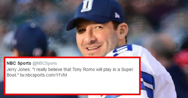 twitter madden tony romo nfl trolling dallas cowboys insult football funny