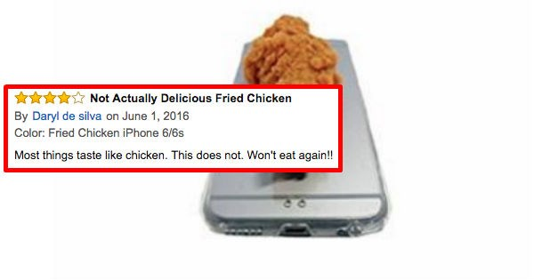 reviews amazon fried chicken food funny - 1387013