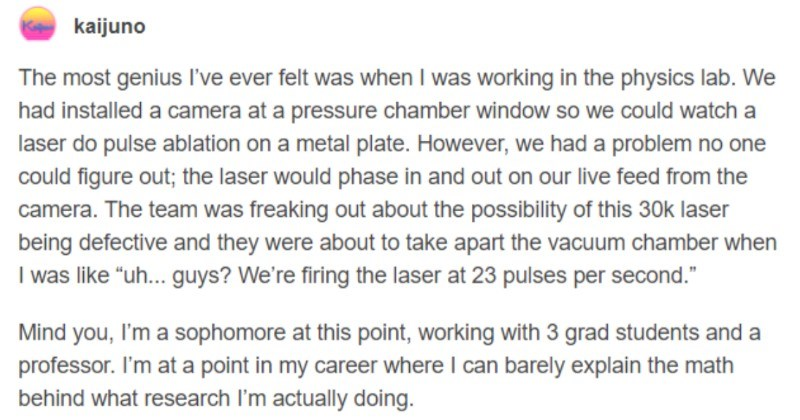 A funny Tumblr thread about how people can retain random, helpful bits of knowledge.