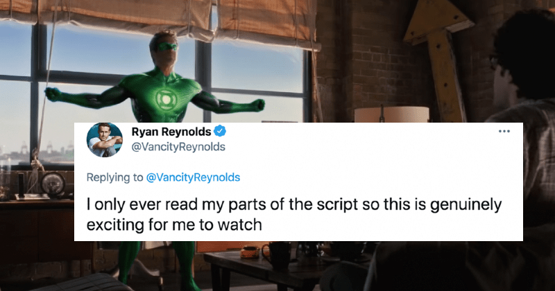 "Ryan Reynolds decides to live tweet his reactions to the ""Green Lantern"" movie."