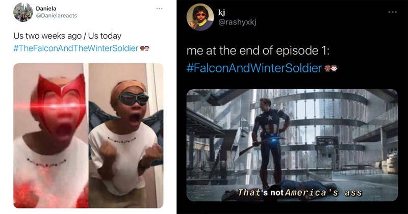 the falcon and the winter soldier, marvel, marvel memes, funny memes, twitter memes, disney, captain america, marvel cinematic universe, avengers, avengers memes, fandom