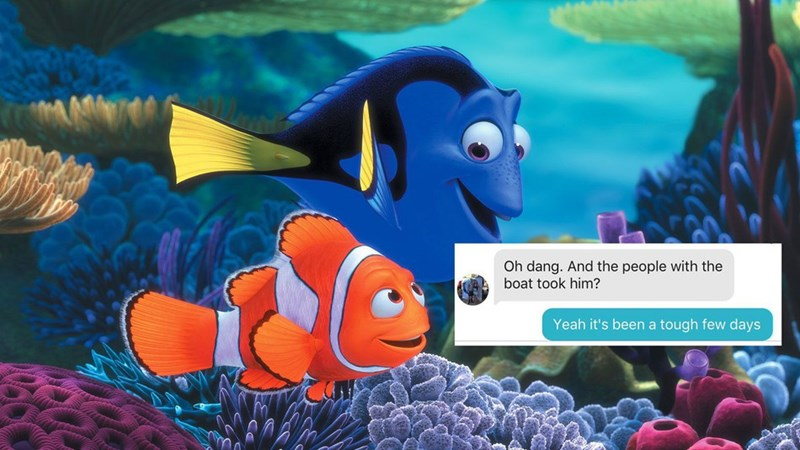 trolling tinder movies finding nemo prank funny win dating - 1392133