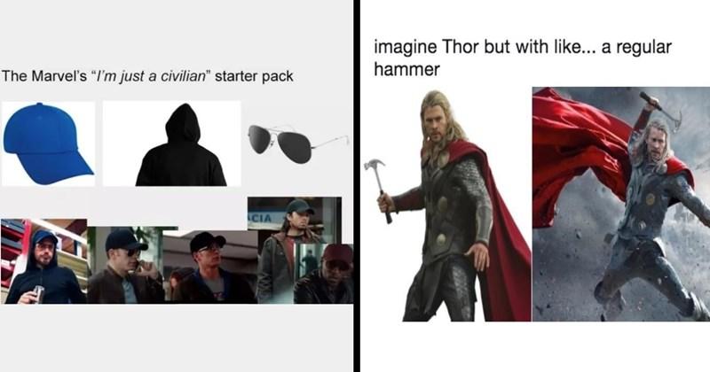 avengers memes, marvel memes, thor memes, iron man, spiderman, marvel cinematic universe, funny memes, nerdy memes, fandom, disney, infinity war, endgame, captain america, thanos