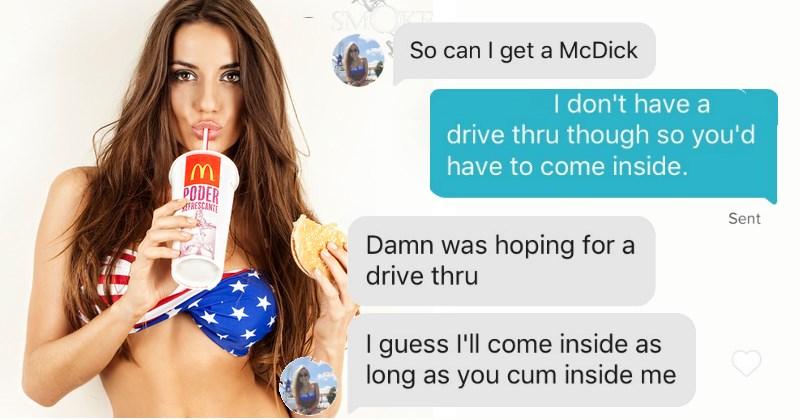 tinder match talk about mcdonalds