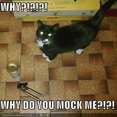 can can opener lolcats mock no thumbs why