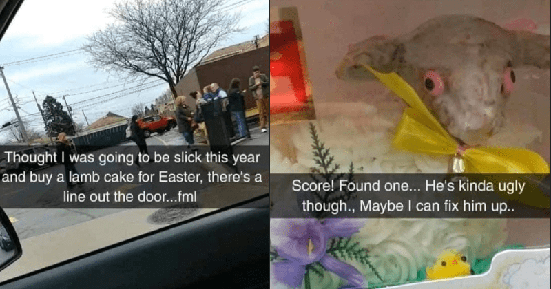 Woman's mission to acquire an Easter cake ends up resulting in hilarious cake fail.