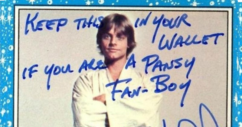 star wars mark hamill signature trolling