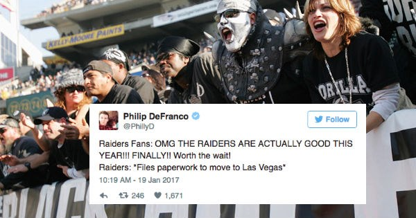 news,sports,nfl,Oakland Raiders,reactions,football,fans,funny
