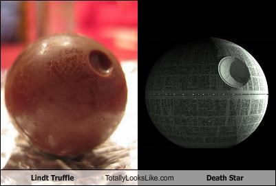 candy Death Star food Lindt Truffle star wars - 1400713472