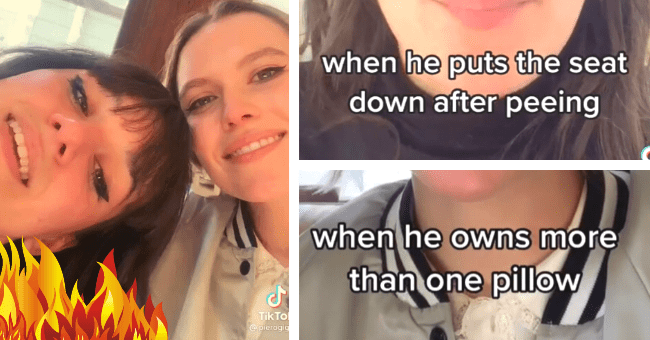 In Viral TikTok Women Expose Things That Prove The Bar Is Way Too Low For Men| thumbnail text - when he owns more than one pillow TikTok @ pierogigirl when he puts the seat down after peeing TikTok @ pierogigirl
