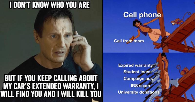 Funny memes, dank memes, lol, random memes, telemarketing, telemarketers, stupid memes, car warranty calls, robocalls,