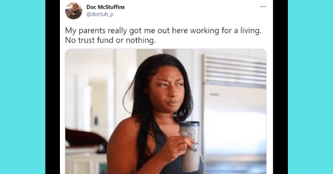 Funny tweets about adulting | thumbnail text - Doc McStuffins @doctuh_p My parents really got me out here working for a living. No trust fund or nothing.