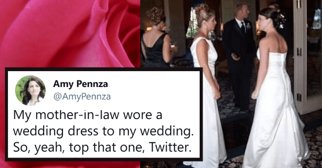 Mothers-In-Law Who Don't Believe In The Concept Of Boundaries| thumbnail text - ll Verizon ? 7:54 PM @ 1 99% Amy Pennza @AmyPennza My mother-in-law wore a wedding dress to my wedding. So, yeah, top that one, Twitter. #weddingfail @jimmyfallon 9:08 AM · 6/19/19 · Twitter for iPhone 3,478 Retweets 17K Likes Tweet your reply