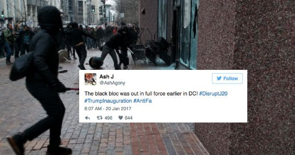 trump inauguration riots