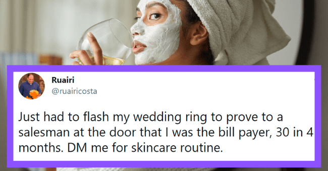 Funny tweets about skincare routine | thumbnail text -