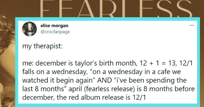 Funny tweets about Taylor Swift's new and improved album, Fearless | thumbnail text -