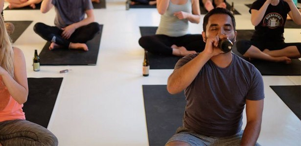 cool beer yoga