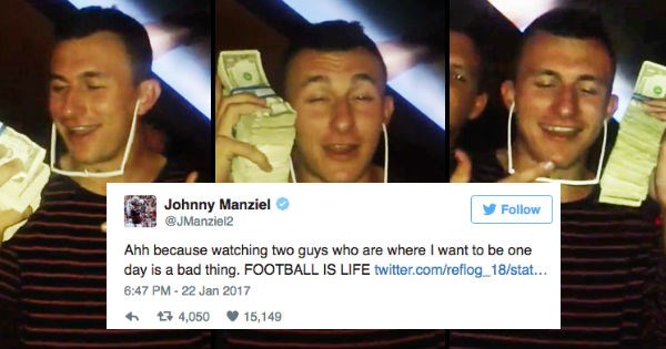 twitter nfl trolling cleveland browns boston patriots johnny manziel football funny - 1410565