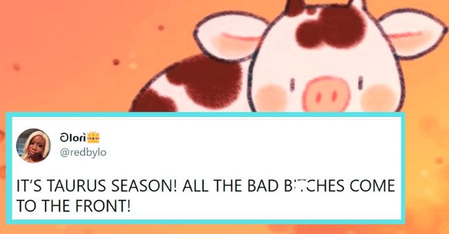 Tweets about taurus season | thumbnail text -