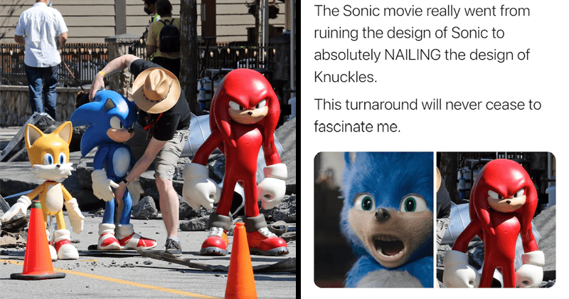 Twitter users react to leaked photos from Sonic the hedgehog 2, knuckles, tails, sequel