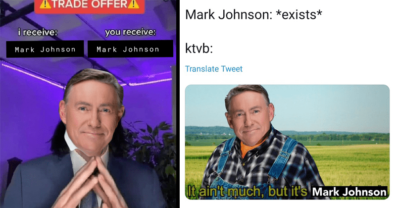 Funny twitter meme about Boise Idaho news anchor Mark Johnson