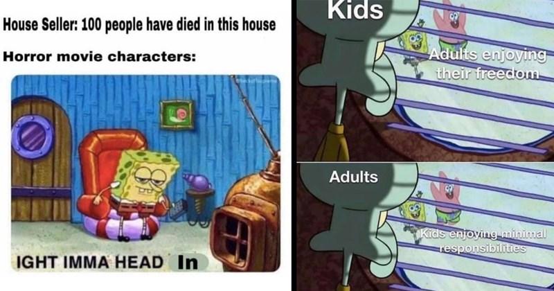 funny memes, dumb memes, relatable memes, spongebob squarepants, spongebob memes, dank memes, shitposts, funny, memes, cartoons, patrick memes, squidward memes